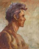 Portrait (huile sur carton toilé 55x38 cm)
