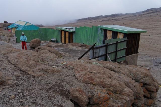 Die Toilettenanlagen der Kibo Hütte
