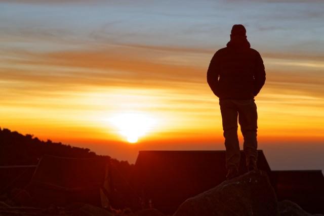 Letzter Sonnenaufgang auf dem Berg