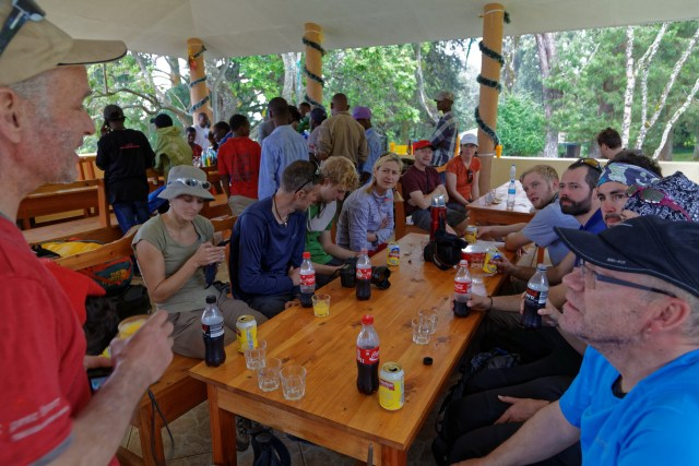 Empfangsapero beim Kili-Parkzentrum