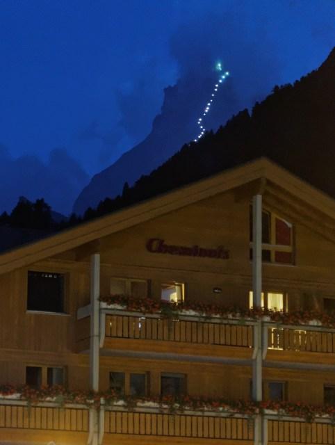 Hörnligrat-Beleuchtung zum 150-Jahr Jubiläum der Erstbesteigung des Matterhorns