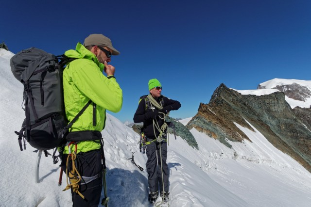 Hajo, unser Bergführer und Oli