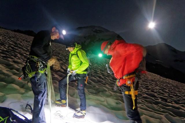 Übergang auf den Monte-Rosa-Gletscher