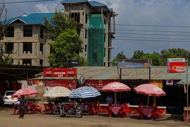 Strassencafe in Arusha