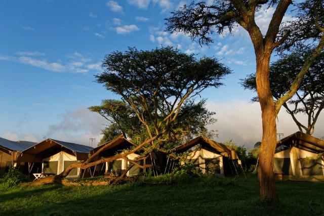 Morgendliche und noch ruhige Camp-Stimmung