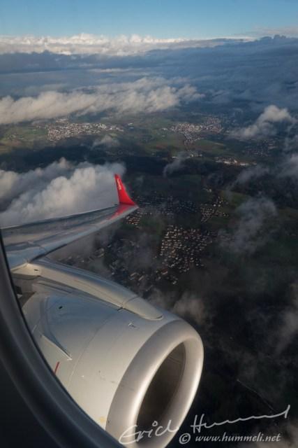 Schon kurz nach dem Start jedoch schönstes Wetter über Zürich