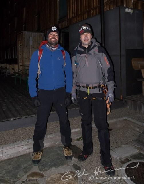 Thömu und Dani sind parat für den Gipfelsturm