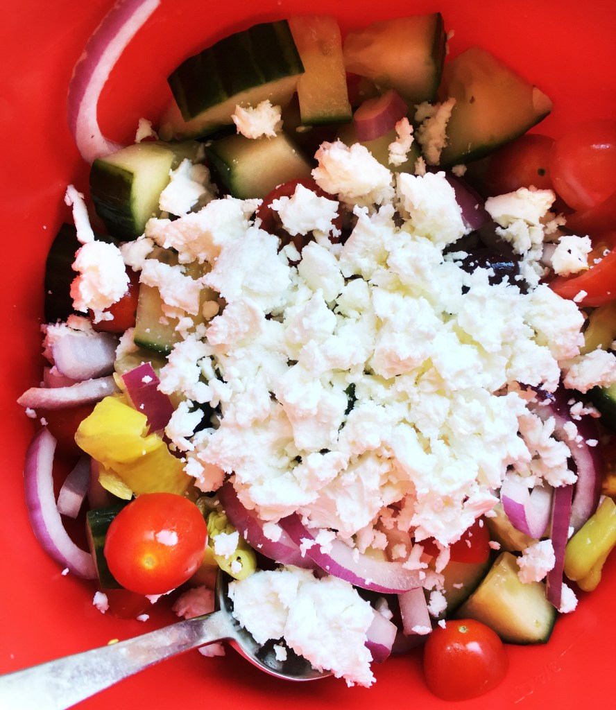 Greek Salad recipe featured