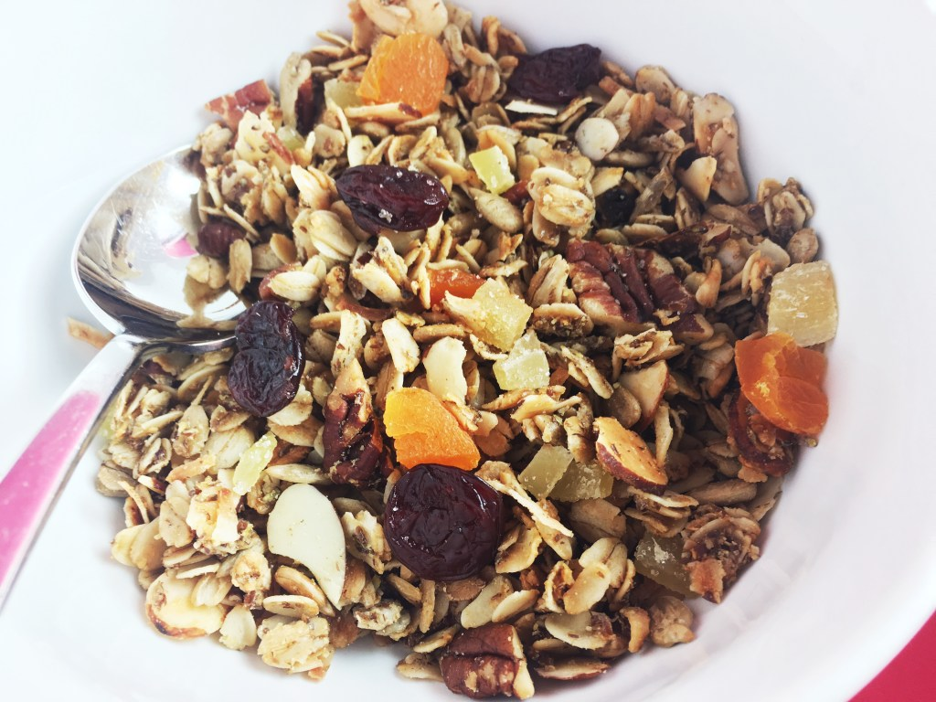 Homemade Granola bowl