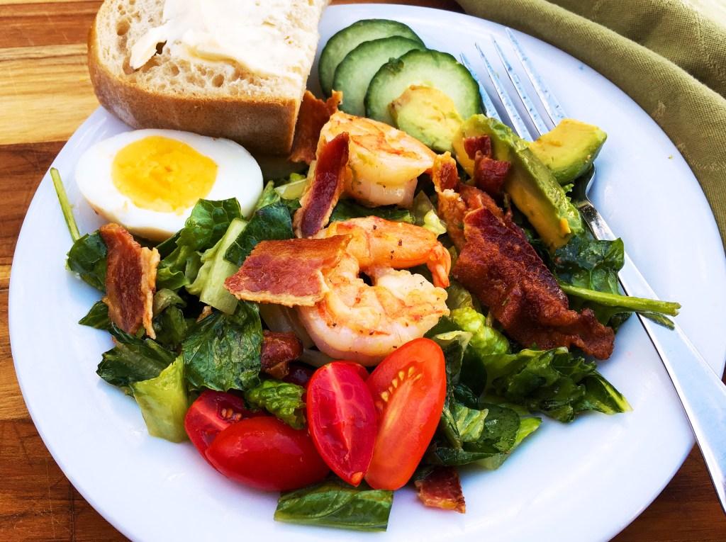 Shrimp Cobb Salad, Cilantro-Lime Dressing