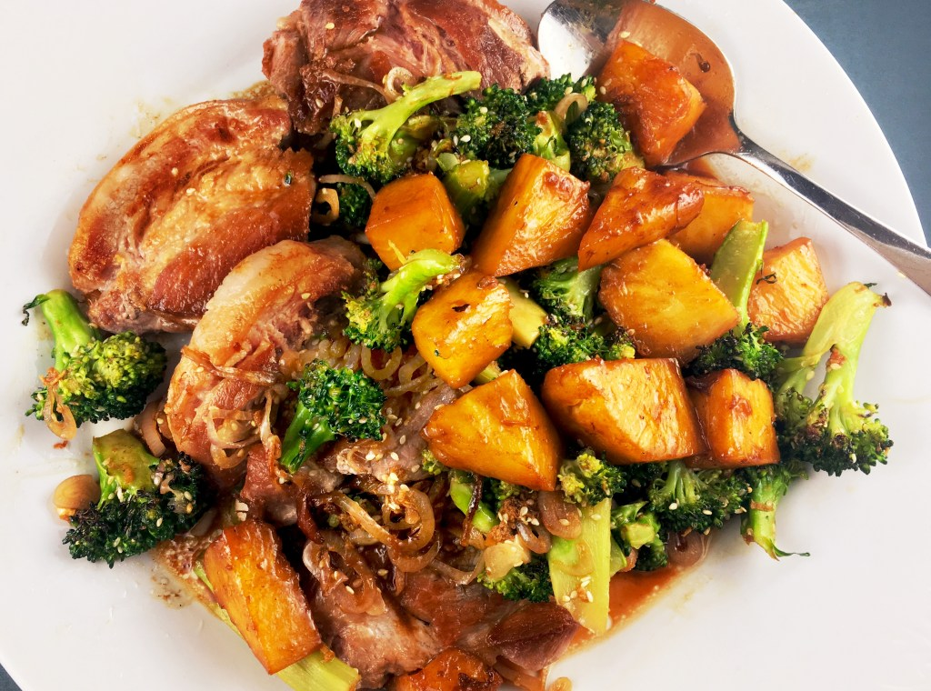 Pork Shoulder Pineapple Broccoli