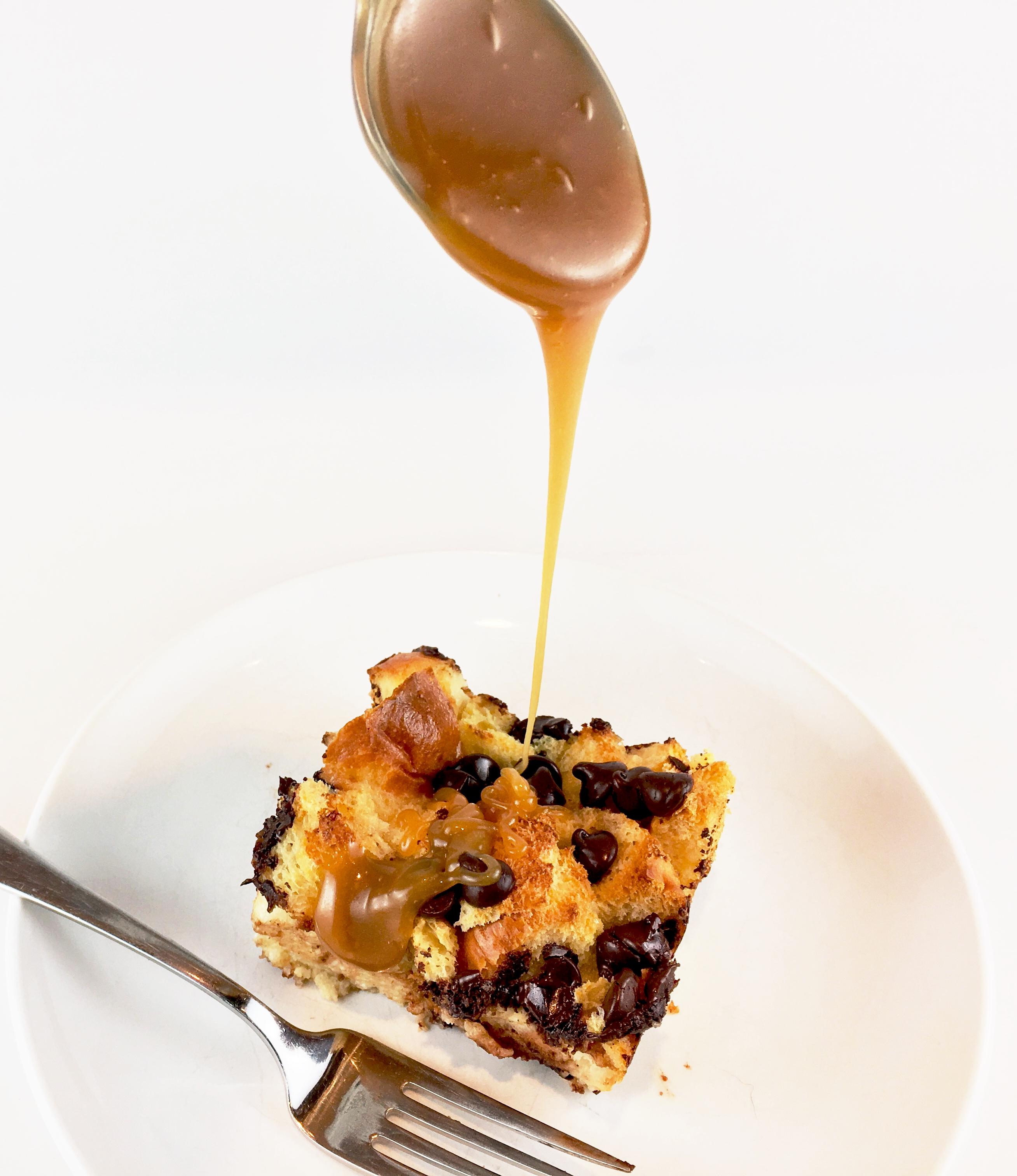 Brioche Bread Pudding with Butterscotch Sauce - Hummingbird Thyme