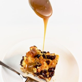 Brioche Bread Pudding with Butterscotch Sauce