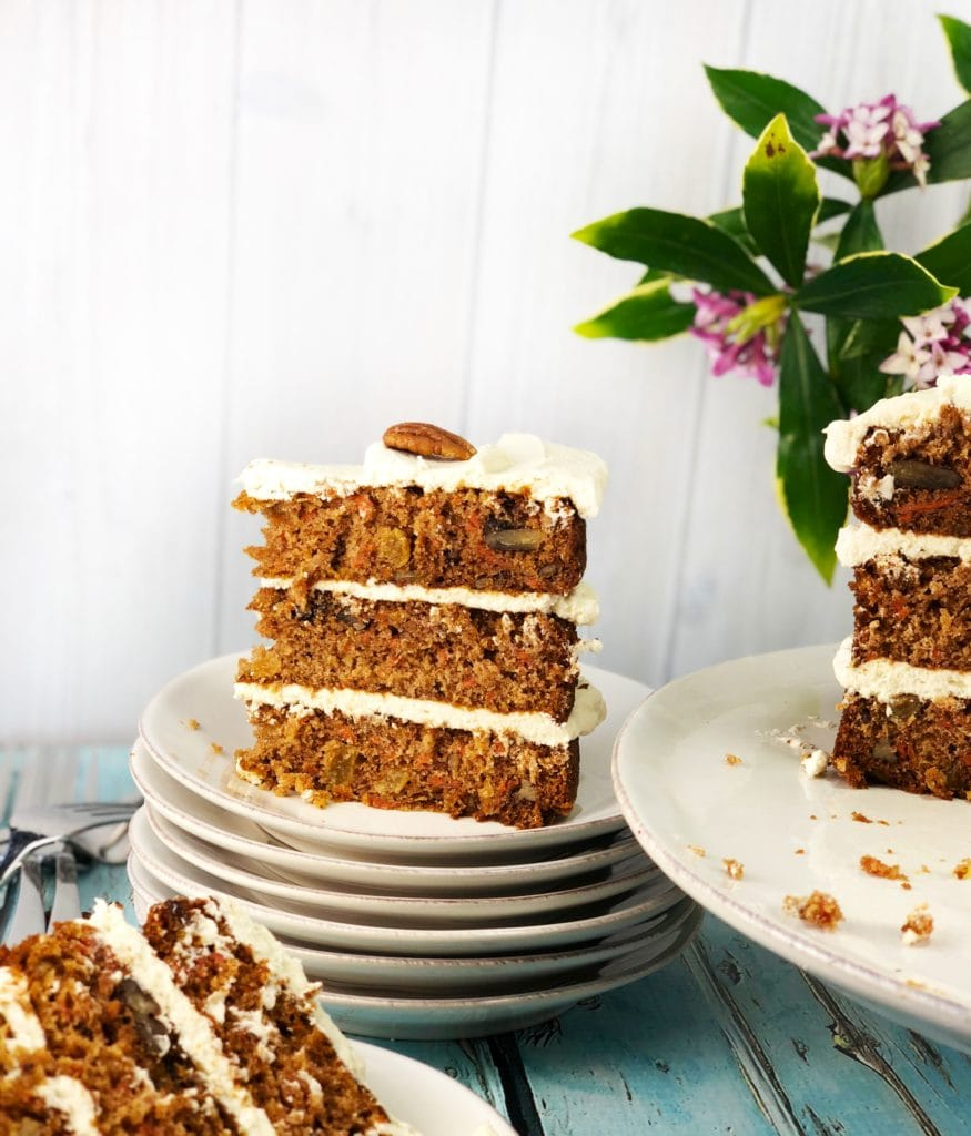Carrot Cake with Cream Cheese Frosting - Hummingbird Thyme