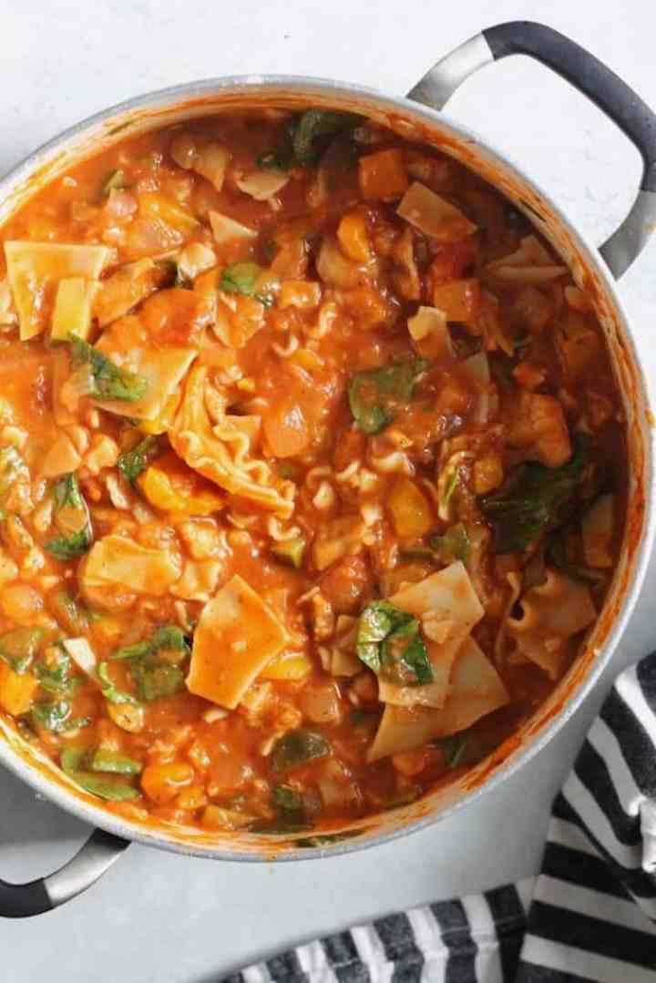 Ninja Foodi Vegan Lasagna Soup Recipe