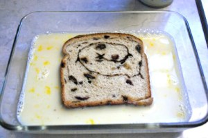 french toast soak bread