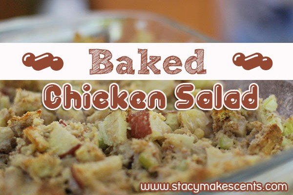 I like this Baked Chicken Salad hot, but my husband likes it cold. That means it's delicious no matter what!