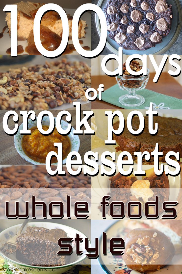 100 Crock Pot Dessert Recipes. Check out these amazing desserts made with the ease of a crockpot! All made with whole foods.