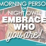 morning person night owl