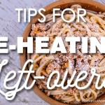 reheating leftovers