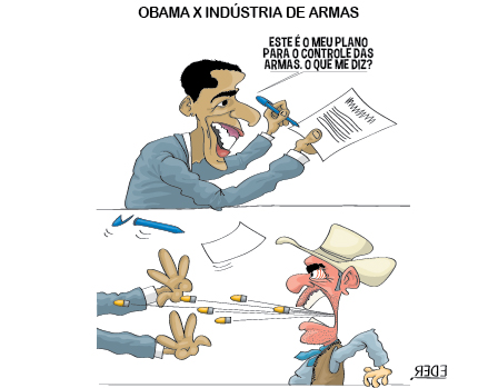 Obama e as industrias de armas nos EUA