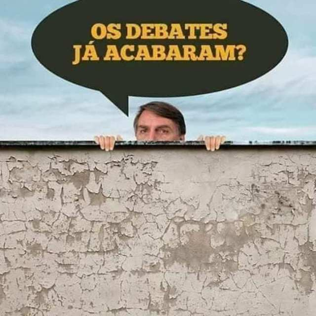 Meme Bolsonaro com medo do debate