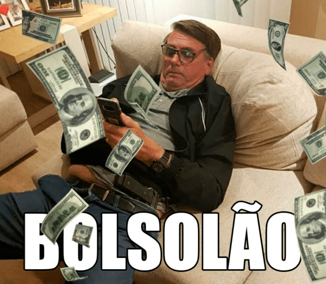 Meme do Caixa 2 para Whatsapp do Bolsonaro