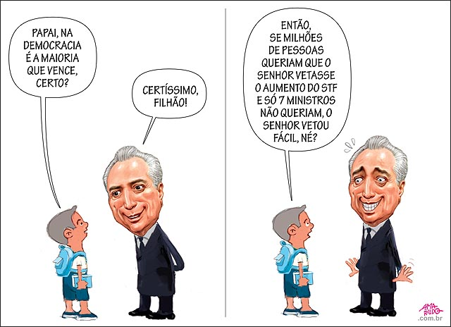 Michel Temer sobre o reajuste do STF