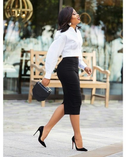 Image result for nigerian articles on how to style pencil skirts to work