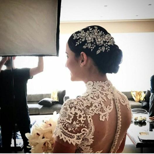 leaf design bridal headpiece