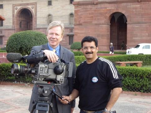 With Ravi Lekhi, Delhi, India