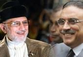 آصف زرداری اور طاہر القادری کا اتحاد