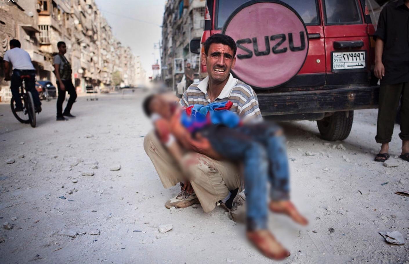 مظلوم شامی بچوں کی ہلاکت پہ احتجاج؛ اقوام متحدہ نے الفاظ کے بغیر اعلان جاری کر دیا