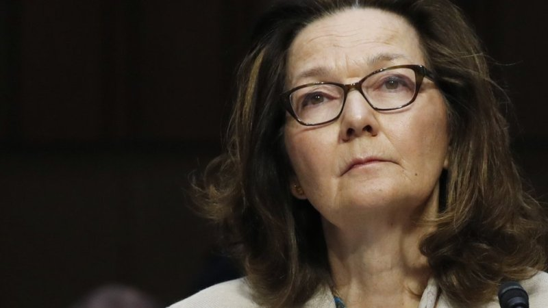 Gina Haspel testifies at her Senate Intelligence Committee confirmation hearing on Capitol Hill in Washington, May 9, 2018.