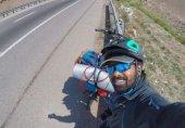 میسی سے ملاقات کی خواہش میں ریاضی کے استاد کا سائیکل پر انڈیا سے روس کا سفر