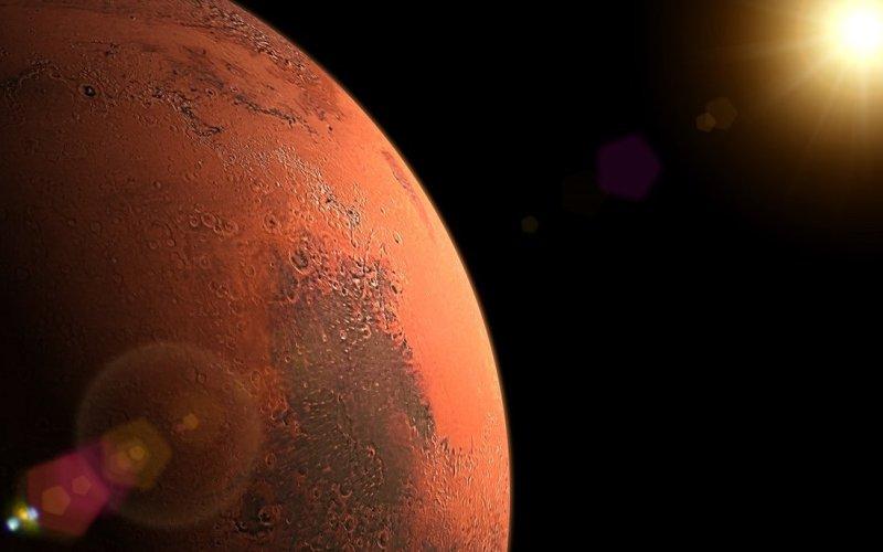 Sunrise in Mars