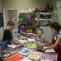 kids participating in art class