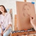Man Drawing a Portrait in Class