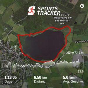 Die Route um den See in Bederkesa