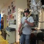 Hundred Loud recording in studio