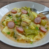 Savoy Cabbage and Frankfurter Soup - Frankfurti Leves