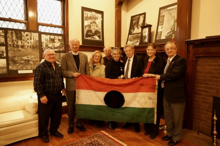 Minnesota Hungarians 56ers with Honorary Consul Csilla Grauzer