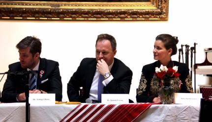 Peter Szilagyi, CG Kumin and Anna Smith Lacey at NY diaspora meeting