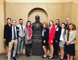 At the Kossuth statue in the US Capitol