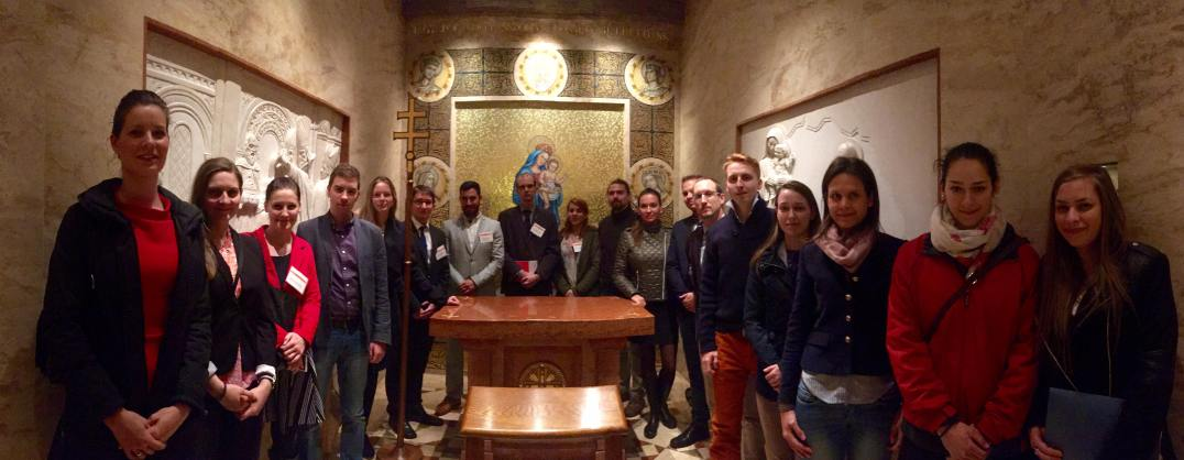 YHLP 2017 participants visit of the Hungarian Chapel in DC