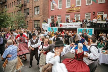 hungarian festival NY flok dance street