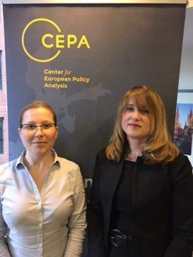 Tatjána with CEPA CFO and COO Ilona Teleki