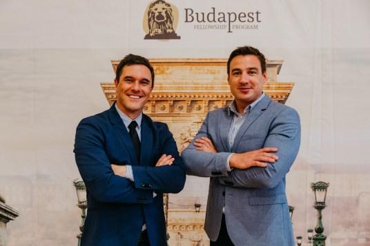 Ryan Brockhaus with his mentor, Balázs Mártonffy