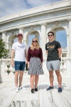 Ármin and Virág with Henry Meyer HF Summer Intern at Arlington Cemetery