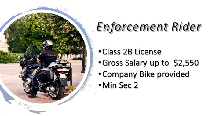 Job Vacancy - Enforcement Rider